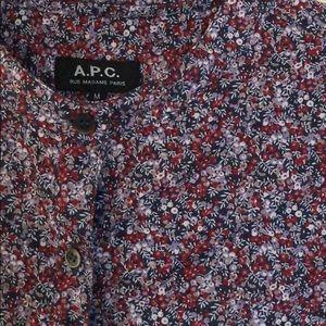 APC Blouse - collarless buttoned shirt